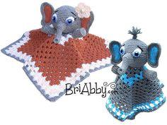 Elephant Lovey / Snuggle Buddy / Security Blanket