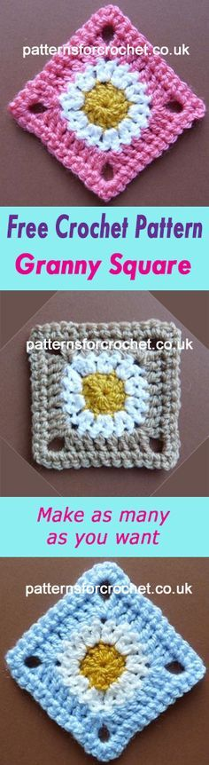 Square motif | use for blankets etc. | free crochet pattern | #crochet