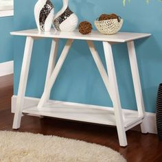 Chantalle Console Table - White