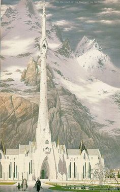 by the Fountain by Ted Nasmith