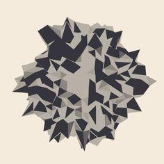 Geometrías en formato GIF para recrear una naturaleza hipnótica