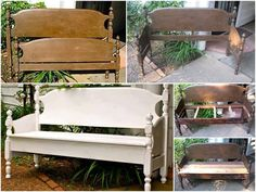 Wooden Daybed Frame - Ideas on Foter Bed Frame Bench, Headboard Benches, Headboard And Footboard, Headboards, Outdoor Projects, Home Projects, Furniture Makeover, Diy Furniture, Wooden Daybed