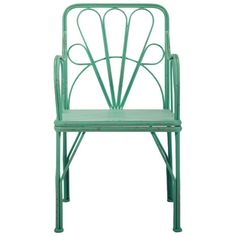 Arm chair in seafoam.Product: Arm chairConstruction Material: MetalColor: SeafoamFeat...