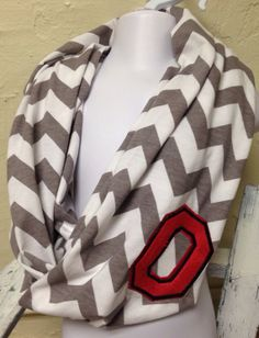 Ohio+State infinity scarf.