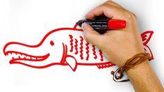 Красная Щука, рисуем маркером, РыбаКит