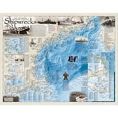 Shipwrecks Of The Northeast Map | National Geographic Store