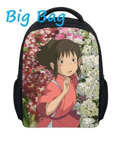 12 Inch Small Spirited Away school fashion bag 3D backpack