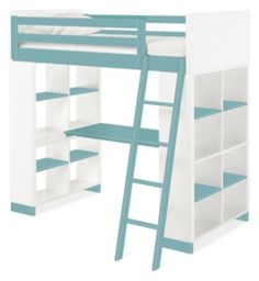 Room & Board - Moda Kids' Wood Loft with Desk & Dresser - Modern Bunk Beds & Loft Beds - Modern Kids Furniture Modern Kids Bedroom, Modern Kids Furniture, Modern Bunk Beds, Girls Bedroom Furniture, Home Furniture, Bedroom Decor, Furniture Stores, Cheap Furniture, Furniture Sets