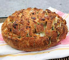spicy cheese bread    1 rustic loaf of sourdough bread