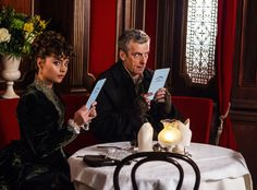 Doctor Who: Peter Capaldi as the Doctor and Jenna Coleman as Clara Oswald in episode 1, Deep Breath