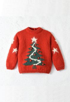 Modèle enfant - Pull de noël sapin Christmas Tree Sweater, Christmas Jumpers, Christmas Outfits, Christmas Time, Baby Sweater Knitting Pattern, Baby Knitting Patterns, Pull Bebe, Baby Sweaters, Child Models