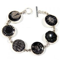 black swan button bohemian bracelet by buttonist