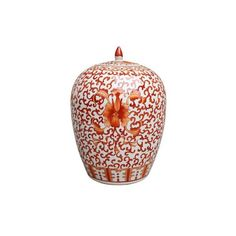 Williams-Sonoma Twisted Lotus Ginger Jar (€225) ❤ liked on Polyvore featuring home, home decor, white home decor, traditional home decor, lotus flower home decor, white ginger jar and handmade home decor