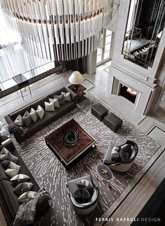 148 comfortable family room design ideas - page 23 ~ Modern House Design Top Interior Designers, Luxury Interior Design, Contemporary Interior, Contemporary Cottage, Contemporary Architecture, Interior Ideas, Contemporary Stairs, Kitchen Contemporary, Contemporary Apartment