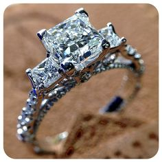 This beauty stands tall among the cookie-cutter engagement ring designs. {Parisian-124P} #love - More at http://www.verragio.com
