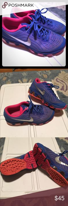 63dfc6beb98 Nike air max Pinkish orange and blue super comfy in great condition Nike  Shoes Athletic Shoes