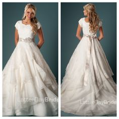 This dress is absolutely gorgeous to me. Modest but soooo pretty!!
