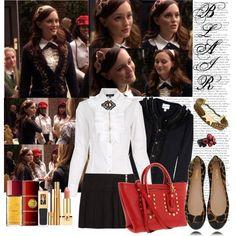 Blair Waldorf Outfit - Gossip Girl  (Dare Devil) - school uniform