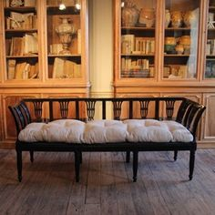 Stylish 19th century Ebonised Bench - Decorative Collective