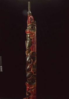 Haida model totem pole. 19th century. Royal BC museum collection. @cargocultist
