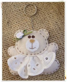 *FELT ART ~ Bear #keychain