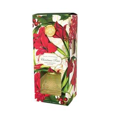 Christmas Time Home Fragrance Diffuser --- Eight reeds and an elegant glass decanter are packed into a window box for easy viewing. / 230 ml liquid SCENT Fresh green ivy, floral cyclamen, and woodsy cypress Room Scents, Fresh Green, Fragrance Oil, Decanter, Christmas Time, It Works, Diffusers, Ivy, Glass