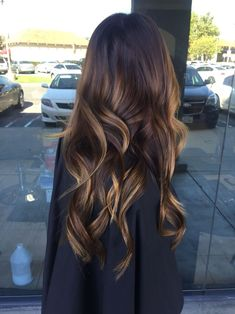 EXACTLY Premium Chestnut Brown mixed Dark Brown Balayage Remy Clip in Hair Extensions Double Weft Hair Color And Cut, Clip In Hair Extensions, Long Extensions, Ombre Hair, Balayage Hair Brunette Long, Brunette Fall Hair Color, Bayalage Dark Hair, Sunkissed Hair Brunette, Baylage