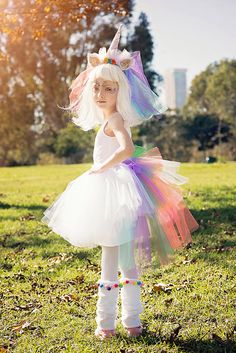 Adorable Toddler Halloween Costumes That Will Be Trendy Forever Unicorn Halloween Costume Girl, Costume Halloween, Halloween Costumes For Girls, Girl Costumes, Halloween Kids, Toddler Unicorn Costume, Toddler Tutu, Costumes Avec Tutu, Costume D'halloween Fille