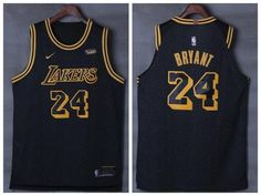 Men 24 Kobe Bryant Jersey City Edition Black Los Angeles Lakers Jersey  Player c8b653787