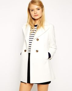 ASOS -vegan white coat-dont care for the buttons. Really want a white coat, but I think I would destroy it.