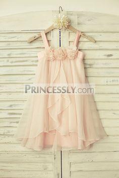 Princessly.com-K1000123-Boho Beach Blush Pink Thin Straps Chiffon Flower Girl Dress-31