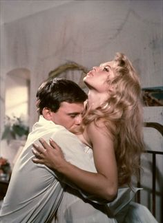 Brigitte Bardot and Jean Louis Trintignant in Et Dieu… créa la femme directed by Roger Vadim, 1956