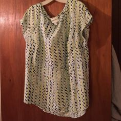 Ava Viv blouse from Target Cute blue and yellow printed blouse. 2x Tops Blouses