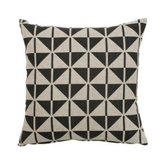 Faroese Cushion - Black - The Cotswold Company
