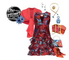 """""""Admire other's beauty without question of your own."""" by grownuppaperdolls ❤ liked on Polyvore featuring NARS Cosmetics, Ted Baker, Chesca, Mary Katrantzou, Tory Burch, Malone Souliers, By Terry, Marc Jacobs, floralprint and ruffles"""