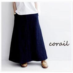 【corail コライユ】裏ヘリンボーン マキシ スカート(3103037)