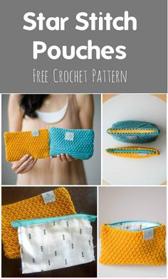 Crochet Purses Design Easy Crochet StarStitchPouches - 110 Free Crochet Patterns for Summer and Spring - DIY Diy Crafts Crochet, Cute Crochet, Crochet Summer, Crochet Handbags, Crochet Purses, Crochet Bags, Crochet Star Stitch, Crochet Granny, Crochet Wallet