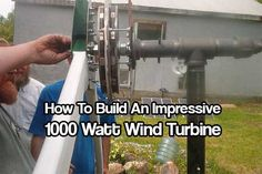 How To Build A DIY 1000 Watt Wind Turbine. 1000 watts is great power for any home. This turbine help charge the battery bank that powers our offgrid… Solar Panel System, Solar Panels, Solar Power Facts, Alternative Energie, Diy Solar, Off The Grid, Renewable Energy, Solar Energy, Save Energy