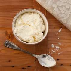 make your own ricotta. um... YES! i always want this and hate having to buy it all the time- can't wait to try this!