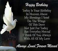 Happy Birthday To My Dad, In Heaven