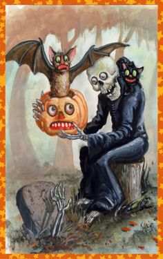 Creepy Vintage Halloween Card