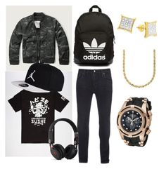 """""""Got it spend it"""" by stylez-w ❤ liked on Polyvore featuring Abercrombie & Fitch, Neff, Nudie Jeans Co., Beats by Dr. Dre, adidas Originals, Invicta, Lord & Taylor, men's fashion e menswear"""