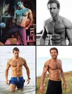 Chris Evans, Ryan Reynolds, Alex O'loughlin, Bradley Cooper! totally YUMMM