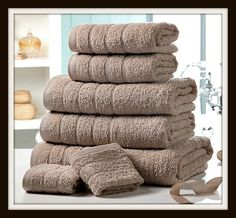 Luxury Cotton Towel Bale, £22 Enjoy the sensual softness of our luxurious Egyptian cotton towels. Designed to wrap you in luxury with wonderful softness to every touch. These are the perfect addition to your bathroom. Luxurious 500gsm Egyptian cotton towel bale comprises: two 30 x 30cm face cloths two 50 x 80cm hand towels, two 65 x 120cm bath towels and one 90 x 140cm bath sheet. 5 different colours  1, Aqua 2,Cream 3,Mocha 4,Pink 5,purple.