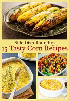 Side Dish Roundup: 15 Tasty Corn Recipes { thelovebugsblog.blogspot.com }