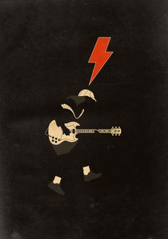 For those about to rock!  ACDC Poster - Angus Young!