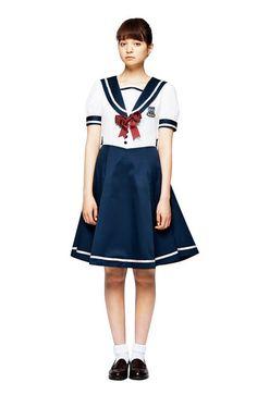 haco. [ハコ]|私立手越女子高等学校 公式セーラー服 〈白:半袖〉|フェリシモ
