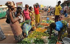 Market in Bangui Central African Republic profile