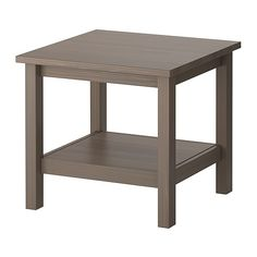 HEMNES Side table - gray-brown - IKEA. 2 together for a coffee table with baskets on shelves. Easy to split up and make room for entertaining!
