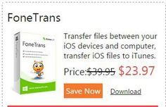 Save 40% Aiseesoft FoneTrans Coupon Promo Code and Discount   Price:$23.97, you save $15.98Aiseesoft FoneTrans Coupon Promo Code and Discount Save 40% Aiseesoft FoneTrans Coupon Promo Code and Discount It is your option to click the abovelink, after that the page will automatically turn to the right site where you can find the right product and then you can get it atmore cheaper price with Coupon Code.    http://ourcouponss.com/wp-content/uploads/2014/12/Aiseesoft